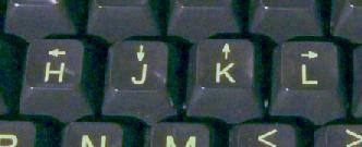 ADM-3a の H, J, K, L キー